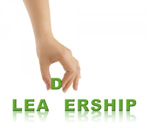 Hand and word Leadership